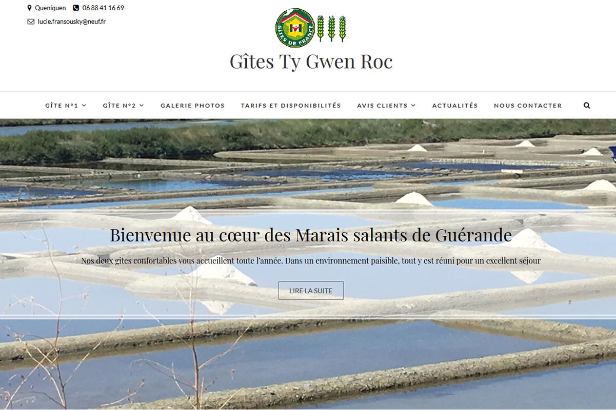 IDéales Communication site internet Gîtes Ty Gwen Roc Réalisation