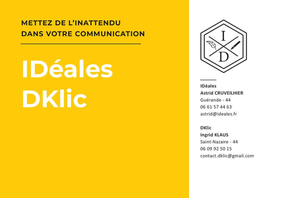 Idéales Communication DKlic Ingrid Klaus Actualités